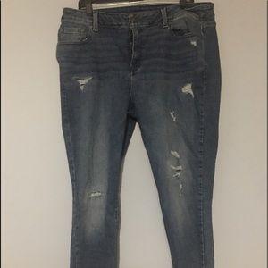 Lane Bryant Skinny Stretch Distressed Jeans 18W